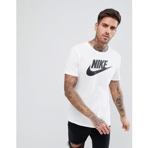 エイソスセレクト ナイキ Tシャツ メンズ 半袖 ホワイト Nike Futura Logo T-Shirt In White|trendcruising