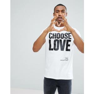 エイソス Tシャツ メンズ 半袖 ホワイト  ASOS x Help Refugees T-Shirt In White|trendcruising