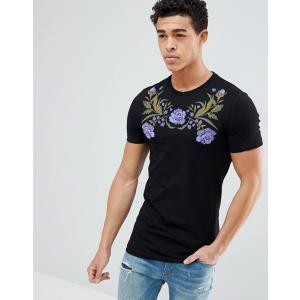 エイソス Tシャツ メンズ半袖  クルーネック ASOS Muscle Fit T-Shirt With Crew Neck And Stretch ホワイト 人気 おしゃれ|trendcruising