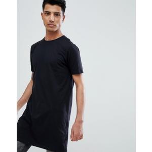 エイソス Tシャツ メンズ半袖 ASOS Extreme Muscle Fit T-Shirt With Stretch And Deep V Neck In Black ブラック 人気 おしゃれ|trendcruising
