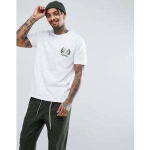 エイソス Tシャツ メンズ 半袖 ホワイト ASOS Valentines Relaxed T-Shirt With Avo Cuddle Embroidery|trendcruising