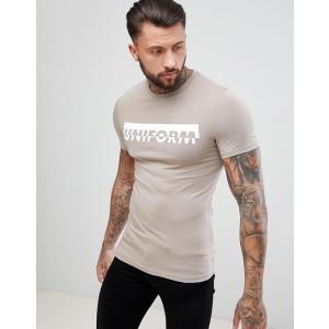 エイソス Tシャツ メンズ 半袖  ASOS DESIGN muscle t-shirt with uniform print|trendcruising
