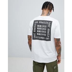 エイソス Tシャツ メンズ 半袖 ホワイト ASOS DESIGN relaxed t-shirt in white with Los Angeles back print|trendcruising