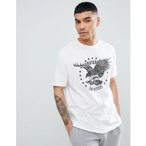 エイソス Tシャツ メンズ 半袖 ホワイト ASOS DESIGN relaxed t-shirt with eagle print|trendcruising