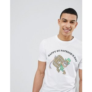 エイソス Tシャツ メンズ 半袖 ホワイト ASOS DESIGN St Patrick's Day t-shirt|trendcruising