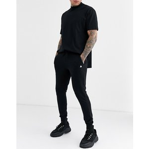エイソスセレクト ジョガーパンツ  メンズ スウェットパンツ  Good For Nothing Skinny Joggers In Black with Small Logo 大きいサイズ xl xxl xxxl|trendcruising
