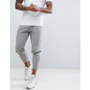 エイソス ジョガーパンツ  メンズ スウェットパンツ グレー ASOS Slim Crop Retro Track Joggers In Grey With Zip Pockets|trendcruising