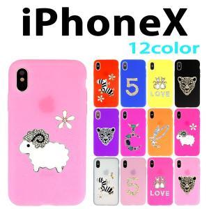 iPhoneX / iPhone Xs 対応 One-point デコシリコン ケース カバー アイフォーン スマホ スマートフォン|trends