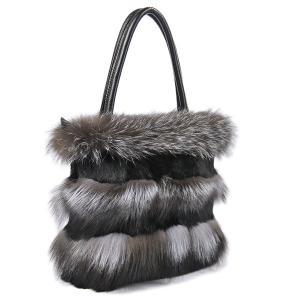 毛皮 ファー フォックスファー ラビットファー 2wayショルダー ワンショルダー 手提げバッグ トートバッグ 牛革バッグ 本革バッグ  bag|trendyme