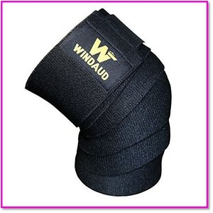ニーストラップ-ニーラップ-ウェイトリフティングパワーリフティング-膝のサポート、運動強度アップ 0099|trepakgogo