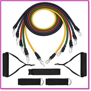体力に合わせて負荷を自由に変更 フィットネスチューブトレーニングチューブ強度別5本セット 0147|trepakgogo