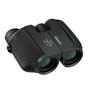 双眼鏡 コンサート オペラグラス 10倍X25 軽量240g ストラップ付 ブラック 0468の画像