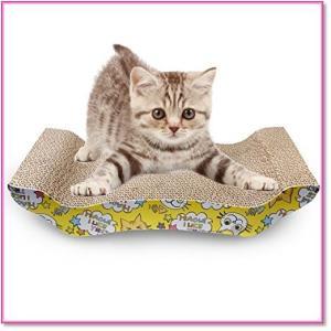 ネコ用品猫爪とぎ板バリバリベッドつめとぎダンボール猫スクラッチャー猫ソファー ベッド型  0544|trepakgogo
