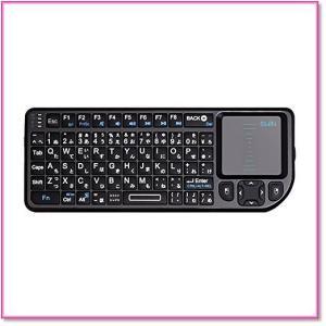 ミニキーボードワイヤレス2.4GHzタッチパッド搭載超小型日本語JIS配列 72キー 無線USBレシーバー付き 0567|trepakgogo