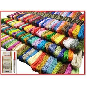 150色 カラーが豊富できれい 刺しゅう糸 刺繍系 まとめ買い オリジナルセット1 50束 6本綴 900本 1014 trepakgogo