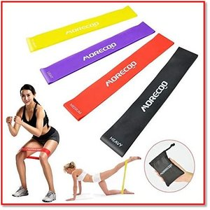 【強度レベル付きあるトトレーニングチューブ】4種類の強度の運動用抵抗バンド。負荷のコードが明記されて...