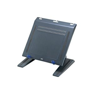 4段階角度調整可能、キーボード収納スペース付きで机の上を有効活用できるノートPCスタンド。ダークグレ...