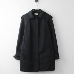 大きいサイズ TO BE CHIC トゥー ビー シック ナイロン シングル コート 40/ブラック アウター 2400011125033|tresorstore