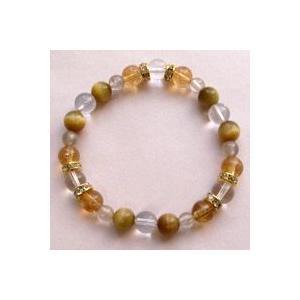 ヒマラヤ水晶(ゼロフィールド浄化ブレス)金運(女性B) 内径16.5cm|triangle358