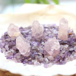 ローズクォーツ 結晶(天然石 原石) triangle358