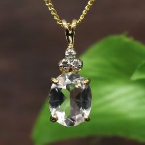 ハーキマーダイヤモンド(ハーキマー水晶)オーバルカットペンダント(SV14Kコーティング)|triangle358