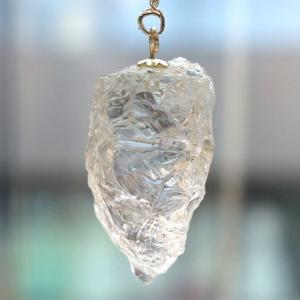 ヒマラヤ水晶ラフカットペンジュラム(天然石 パワーストーン)...