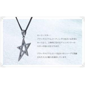 ホーリー・スターペンダント-メンズ/ブラックロジウム|triangle358|04