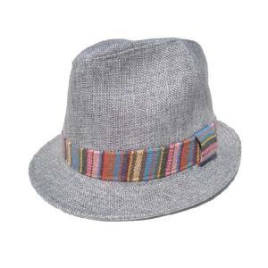 メキシカン柄/ライトグレー/麻素材ハット/麦わら帽子|trickortreat