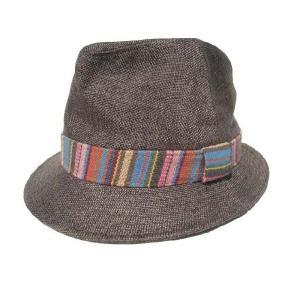 メキシカン柄/ブラウン/麻素材ハット/麦わら帽子|trickortreat