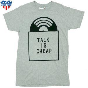 新品/JUNK FOOD/TALK IS CHEAP/Tシャツ/グレー【ネコポス対応】|trickortreat