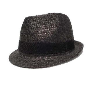 黒/ストローハット/麦わら帽子|trickortreat