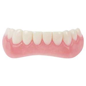 インスタントスマイル 下用ティース フィッティングビーズ付き フリーサイズ(インスタント 仮歯 義歯 前歯 入れ歯 薄型 デンタルケア)|tricycle
