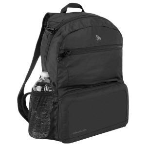 トラベロン セーフティパッカブルバックパック ブラック(リュックサック デイパック バックパック 旅行 バッグ 旅行 便利 グッズ)|tricycle