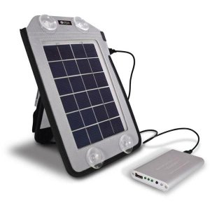 クマザキエイム ソーラーパネル/チャージャー セット(発電機 小型 ソーラーパネル 太陽光発電 蓄電池 セット パネル)|tricycle