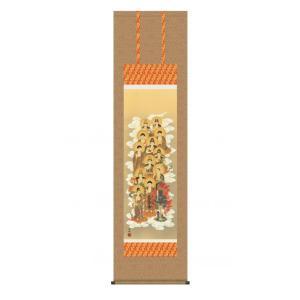 清水 雲峰 守護掛軸 尺三 「十三佛」 桐箱入り(和室 床の間 掛け軸 仏教 仏事 開運)|tricycle