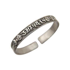 純銀製真言腕輪 文殊菩薩 ブレスレット(仏教 お守り 腕輪 男女兼用 開運 グッズ)|tricycle