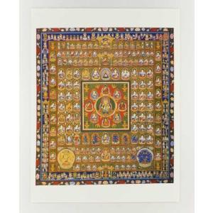 仏画ポスター 胎蔵界曼荼羅 81012(和室 床の間 仏画ポスター 額縁 仏教)|tricycle