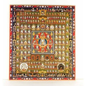 仏画色紙 胎蔵界曼荼羅 84001(和室 床の間 仏画ポスター 額縁 仏教)|tricycle