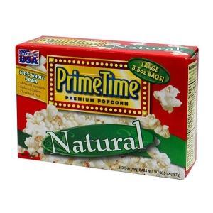 プライムタイム PrimeTime マイクロウェーブポップコーン ナチュラル 99g 3P×12箱セット|tricycle