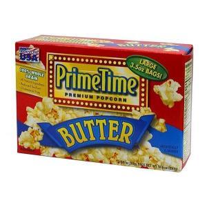 プライムタイム PrimeTime マイクロウェーブポップコーン バター 99g 3P×12箱セット|tricycle