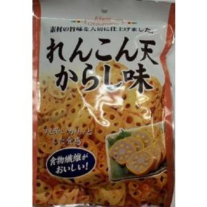 味わいレンコン天 からし味 70g×10袋(天ぷら 野菜 食物繊維 おつまみ 酒の肴 日本酒 おやつ)|tricycle