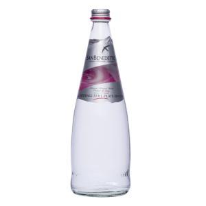 Sanbenedetto サンベネデット ナチュラルミネラルウォーター 炭酸なし グラスボトル 750ml×12本|tricycle
