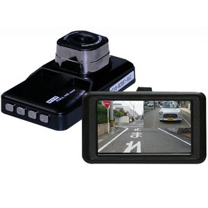 200万画素鮮明車載カメラ 後方カメラ付(ドライブレコーダー 高画質 車載カメラ 前後 2カメラ バックモニター 自動車 カー 用品)|tricycle
