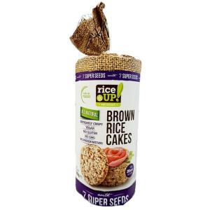 rice UP ライスアップ ブラウンライスケーキ 米菓子 セブンスーパーシード 120g×12袋(スーパーフード 玄米 雑穀 まとめ買い お徳用) tricycle