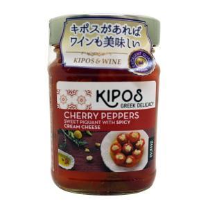 キポス チェリーペッパー クリームチーズ入り 230g×6個(チェリーペッパー オイル漬け 瓶詰め ...