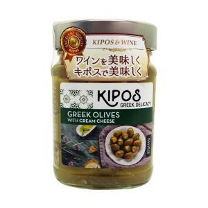キポス グリーンオリーブ クリームチーズ入り 230g×6個(オリーブ オイル漬け 瓶詰め 地中海料...