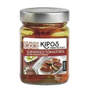 キポス サンドライトマト クリームチーズ入り 230g×6個(ドライトマト オイル漬け 瓶詰め 地中...