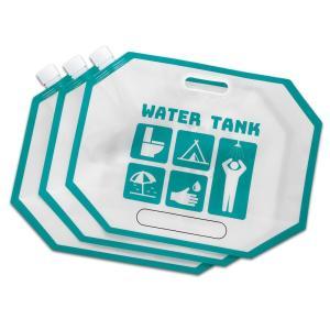 防災・非常用コンパクトウォーターバッグ5L×3個(給水 水タンク 運搬 紙バッグ キャンプ アウトドア 用品 グッズ)|tricycle