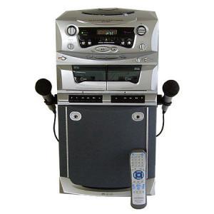 DVD&ダブルカセットカラオケシステム DVC-W501(カラオケ 家庭用 機器 マイク セット)|tricycle