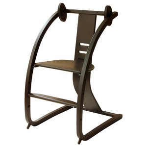 Sdi Fantasia Bambini バンビーニ 日本製 チェア ダークブラウン STC-04(椅子 子供 乗用玩具 木馬 おもちゃ 足置き 木製 ベビーチェア ハイタイプ)|tricycle